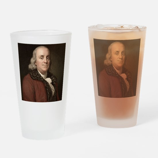 1778 Benjamin Franklin scientist Drinking Glass