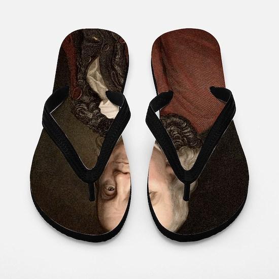 1778 Benjamin Franklin scientist Flip Flops