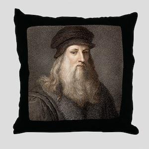 1490 Leonardo Da Vinci colour portrai Throw Pillow