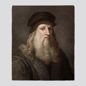 1490 Leonardo Da Vinci colour portra Throw Blanket