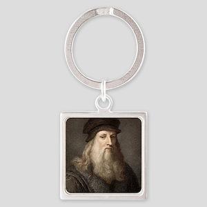 1490 Leonardo Da Vinci colour port Square Keychain