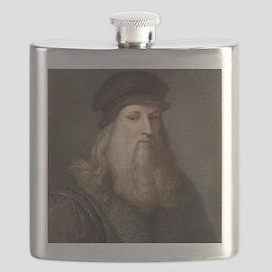1490 Leonardo Da Vinci colour portrait Flask