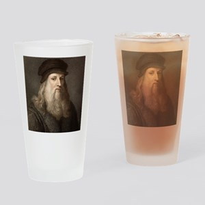 1490 Leonardo Da Vinci colour portr Drinking Glass