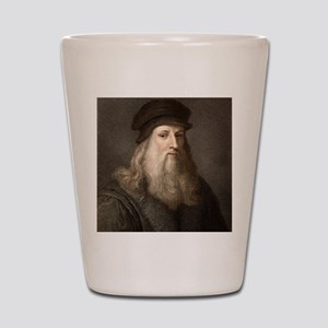 1490 Leonardo Da Vinci colour portrait Shot Glass