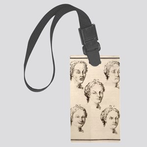 1749 Human emotions and expressi Large Luggage Tag