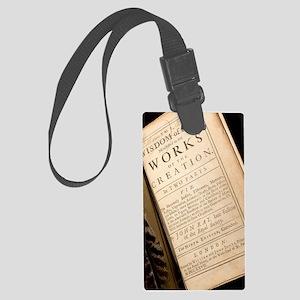 1691 John Ray's Natural Theology Large Luggage Tag