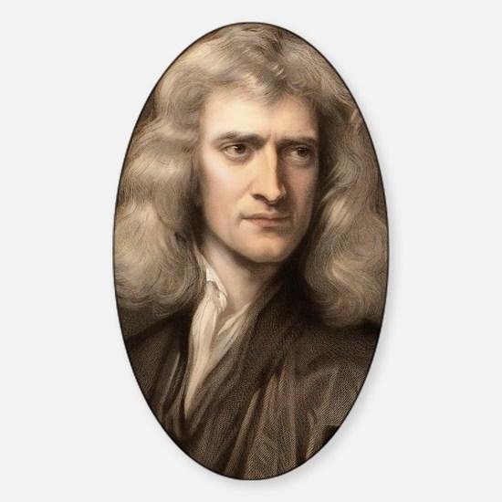 1689 Sir Isaac Newton portrait youn Sticker (Oval)