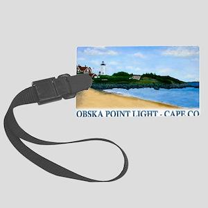 Nobska Point Light Large Luggage Tag