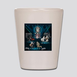 Dogs, Fun, and Rock  Roll Shot Glass