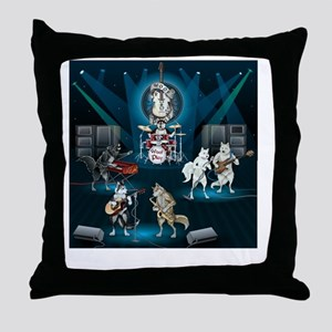 Dogs, Fun, and Rock  Roll Throw Pillow