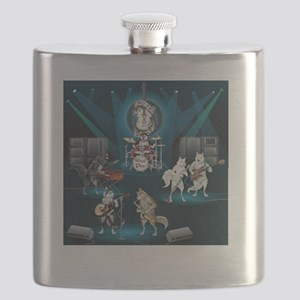 Dogs, Fun, and Rock  Roll Flask
