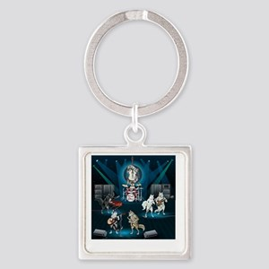 Dogs, Fun, and Rock  Roll Square Keychain