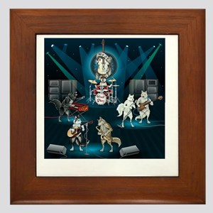 Dogs, Fun, and Rock  Roll Framed Tile