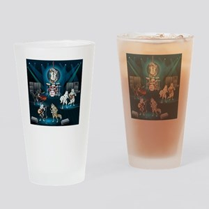 Dogs, Fun, and Rock  Roll Drinking Glass