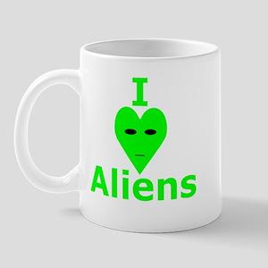 I Heart Aliens Mug