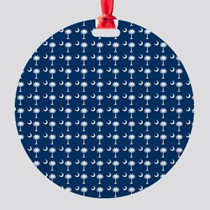 South Carolina State Palmetto Flag Round Ornament