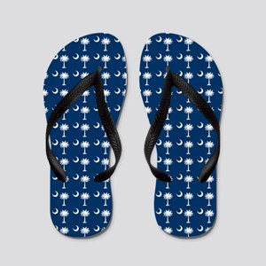 South Carolina State Palmetto Flag Flip Flops