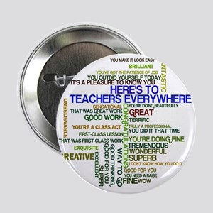 "Great Teachers Word Art 2.25"" Button"