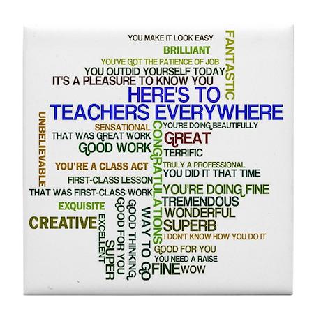 Great teachers word art tile coaster by admincp44019495 solutioingenieria Gallery