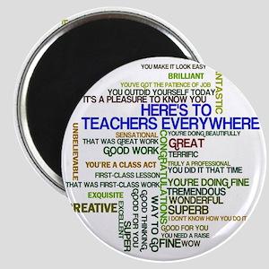 Great Teachers Word Art Magnet