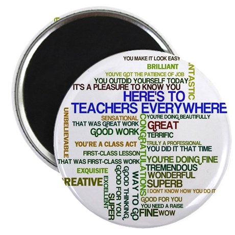 Great Teachers Word Art Magnet