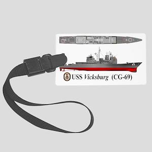 USS Vicksburg CG-69 Large Luggage Tag