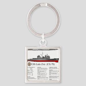 USS Lake Erie CG-70 Square Keychain