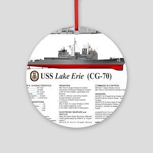 USS Lake Erie CG-70 Round Ornament