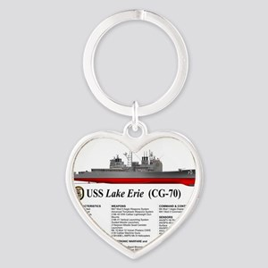 USS Lake Erie CG-70 Heart Keychain