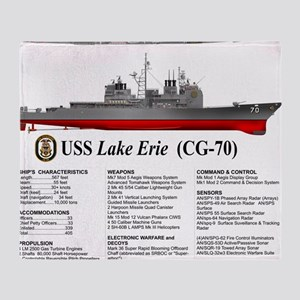USS Lake Erie CG-70 Throw Blanket