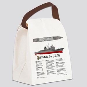USS Lake Erie CG-70 Canvas Lunch Bag