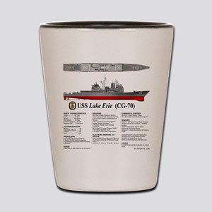 USS Lake Erie CG-70 Shot Glass