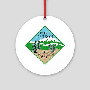 Fort Carson Round Ornament