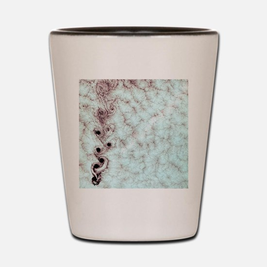 Karman vortices in clouds Shot Glass