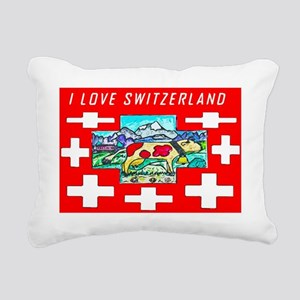 I love Switzerland Rectangular Canvas Pillow