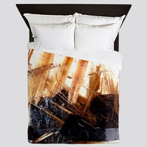 Rutile and haematite in a quartz cryst Queen Duvet