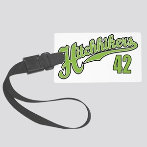 Hitchhikers Front Large Luggage Tag