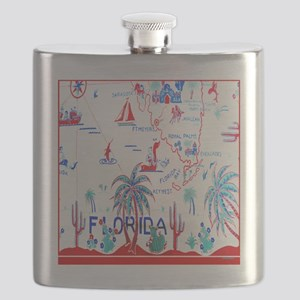 Vintage Florida Tablecloth Shower Curtain Flask
