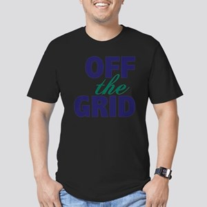 Off the Grid Men's Fitted T-Shirt (dark)