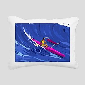 OC-1 Paddler: Rectangular Canvas Pillow