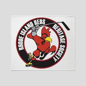 RI Reds Heritage Society Logo Throw Blanket