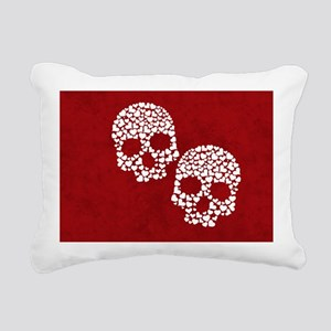 Heart Skull Clutch bag Rectangular Canvas Pillow