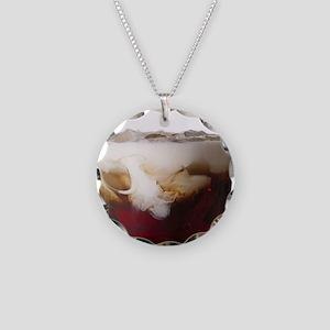Big Lebowski White Russian Necklace Circle Charm