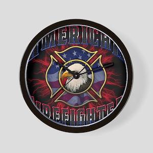 Firefighter Lightning Square Wall Clock