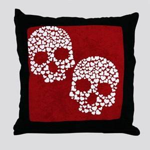 HeartSkull_nook Throw Pillow