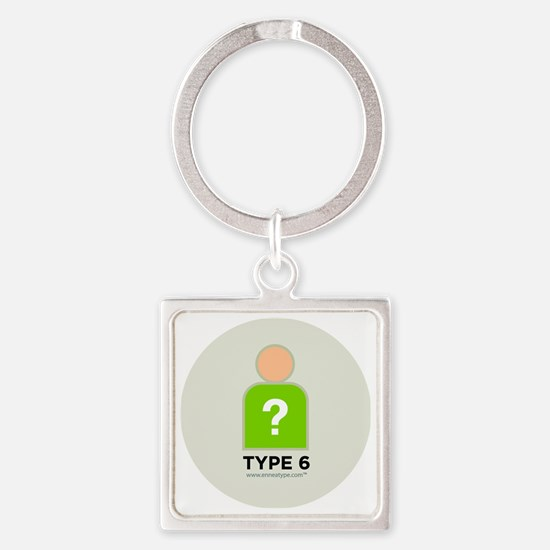 6-Questioner With Number Square Keychain