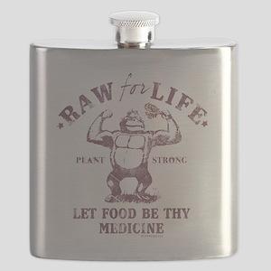 Raw for Life burgandy Flask