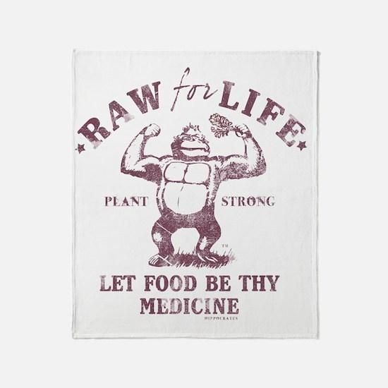 Raw for Life burgandy Throw Blanket