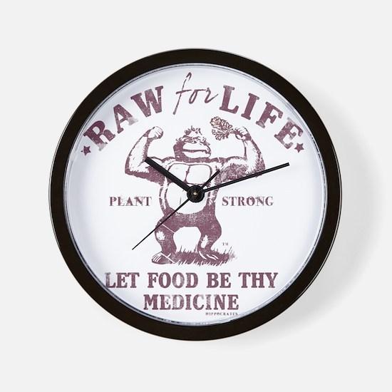 Raw for Life burgandy Wall Clock