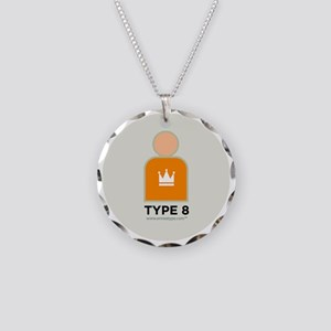 8-Asserter With Number Necklace Circle Charm
